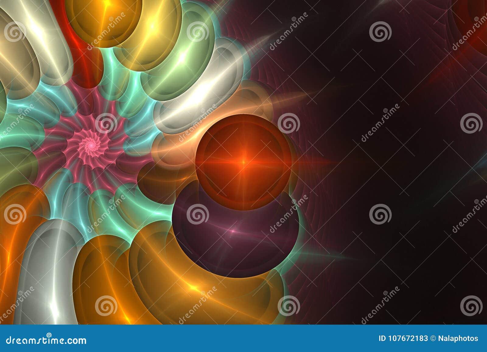 几何分数维形状可能说明作白日梦的想象力荧光的空间梦想不可思议的核爆炸频率样式