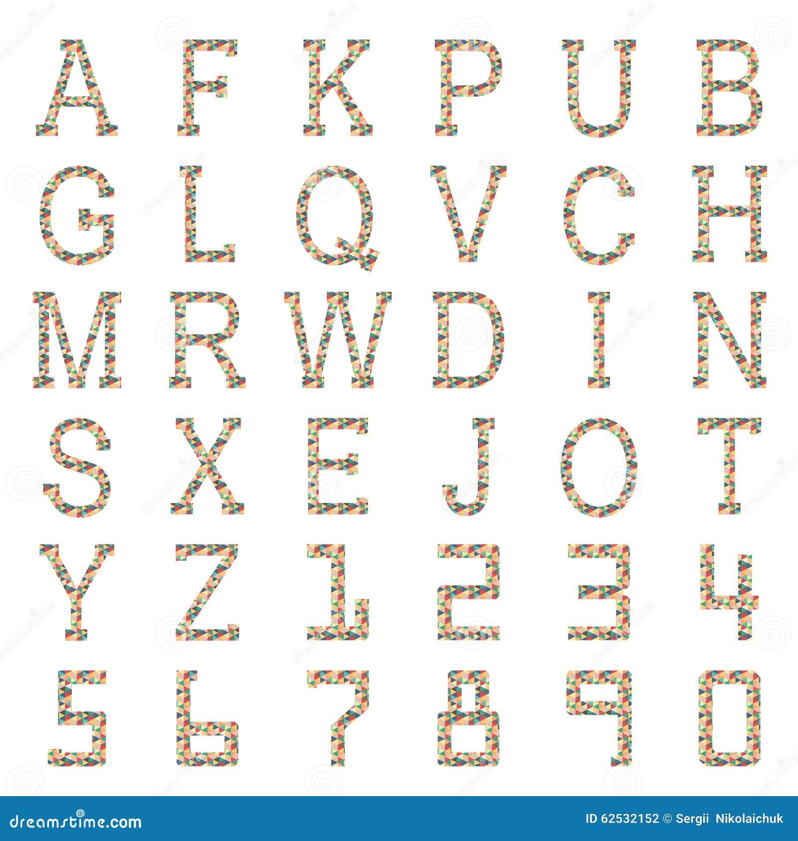 几何形状字母表