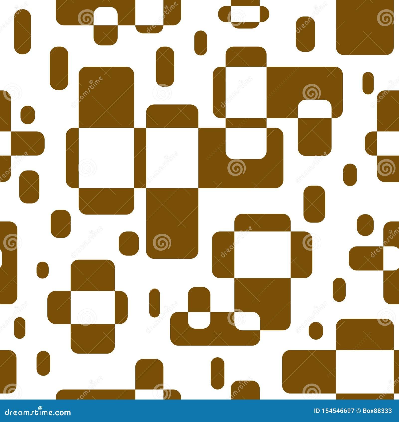 几何形状的无缝的抽象样式 布朗长方形覆盖了