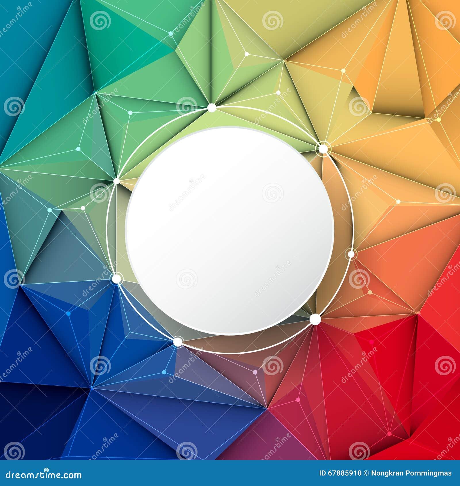 几何抽象的3D,多角形,三角样式