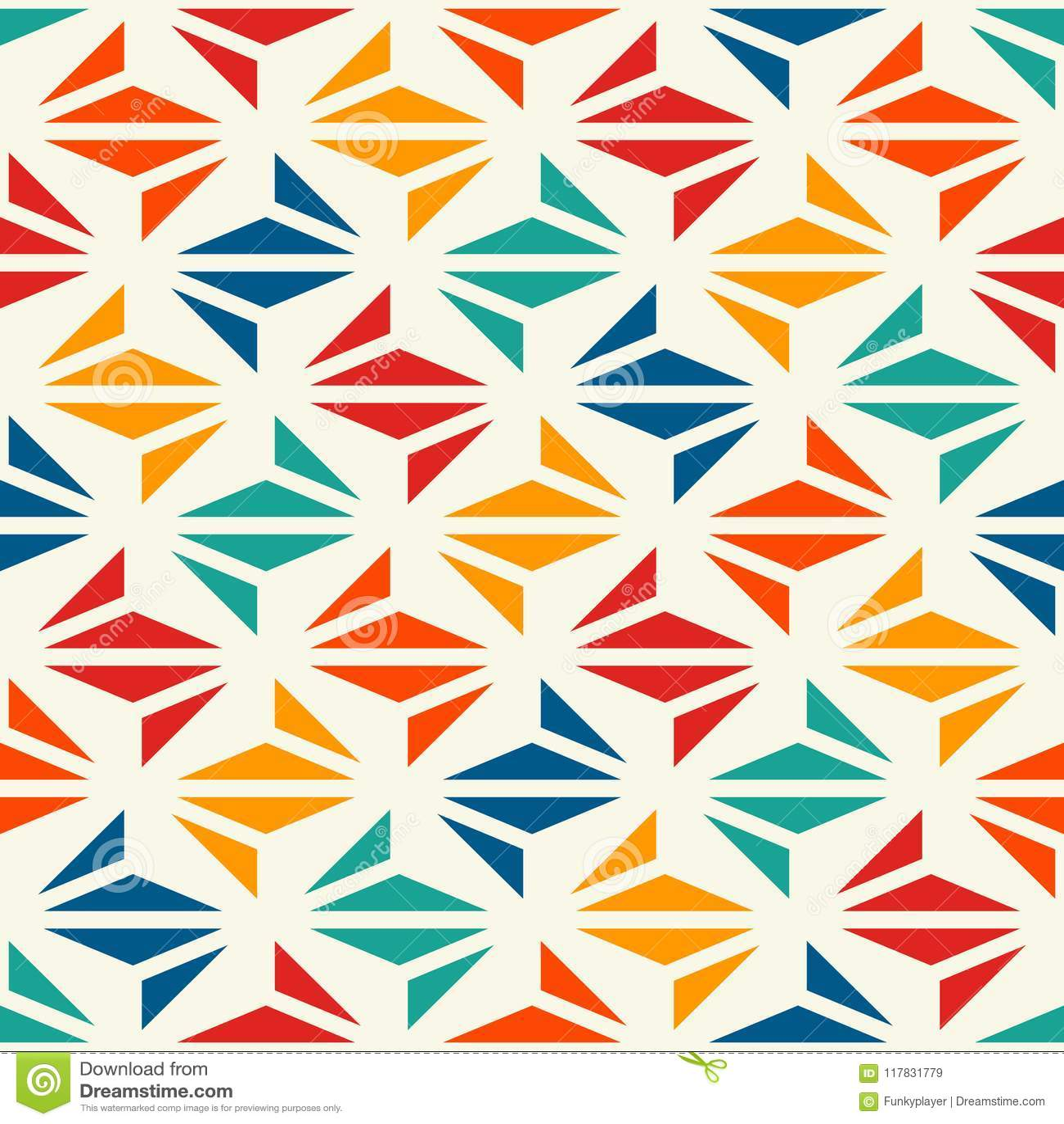 几何现代印刷品 与重复的三角的当代抽象背景 与origami形式的无缝的样式