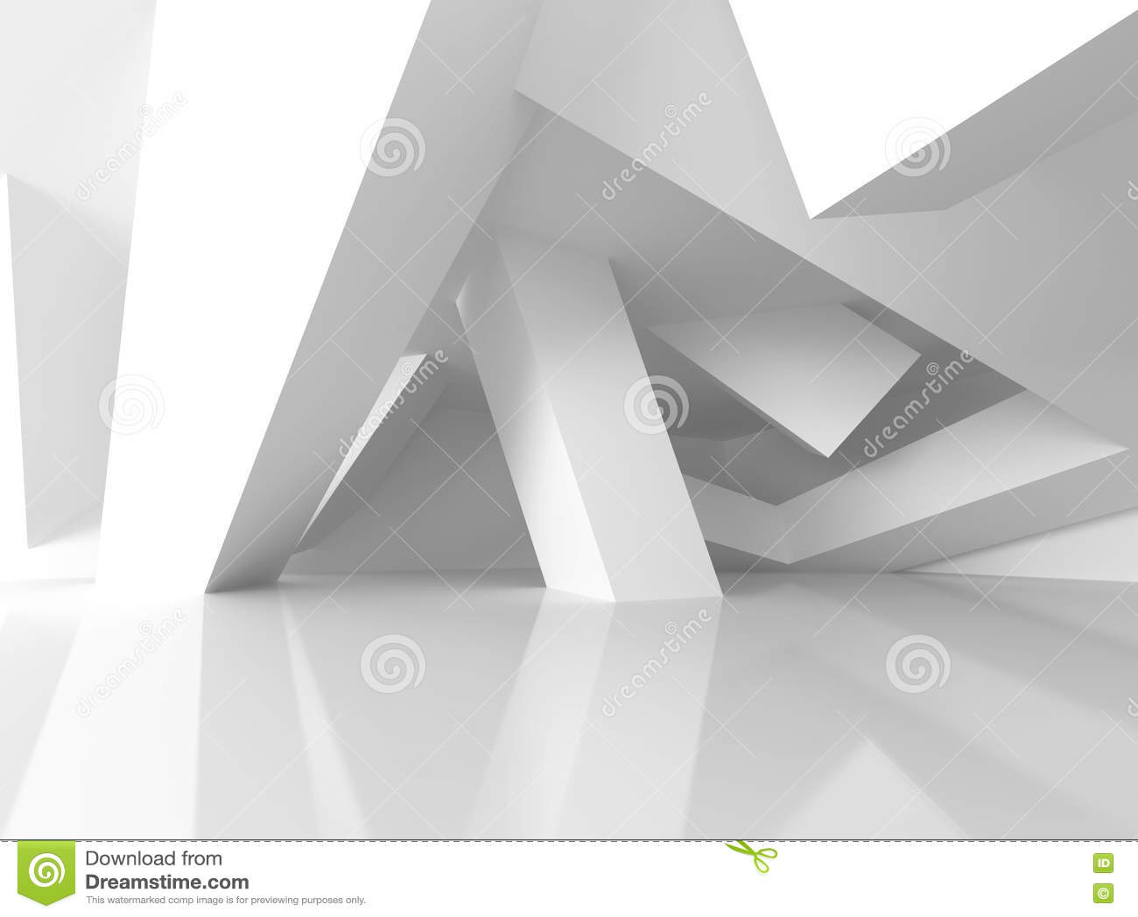几何白色建筑学现代设计背景库存例证 插画包括有