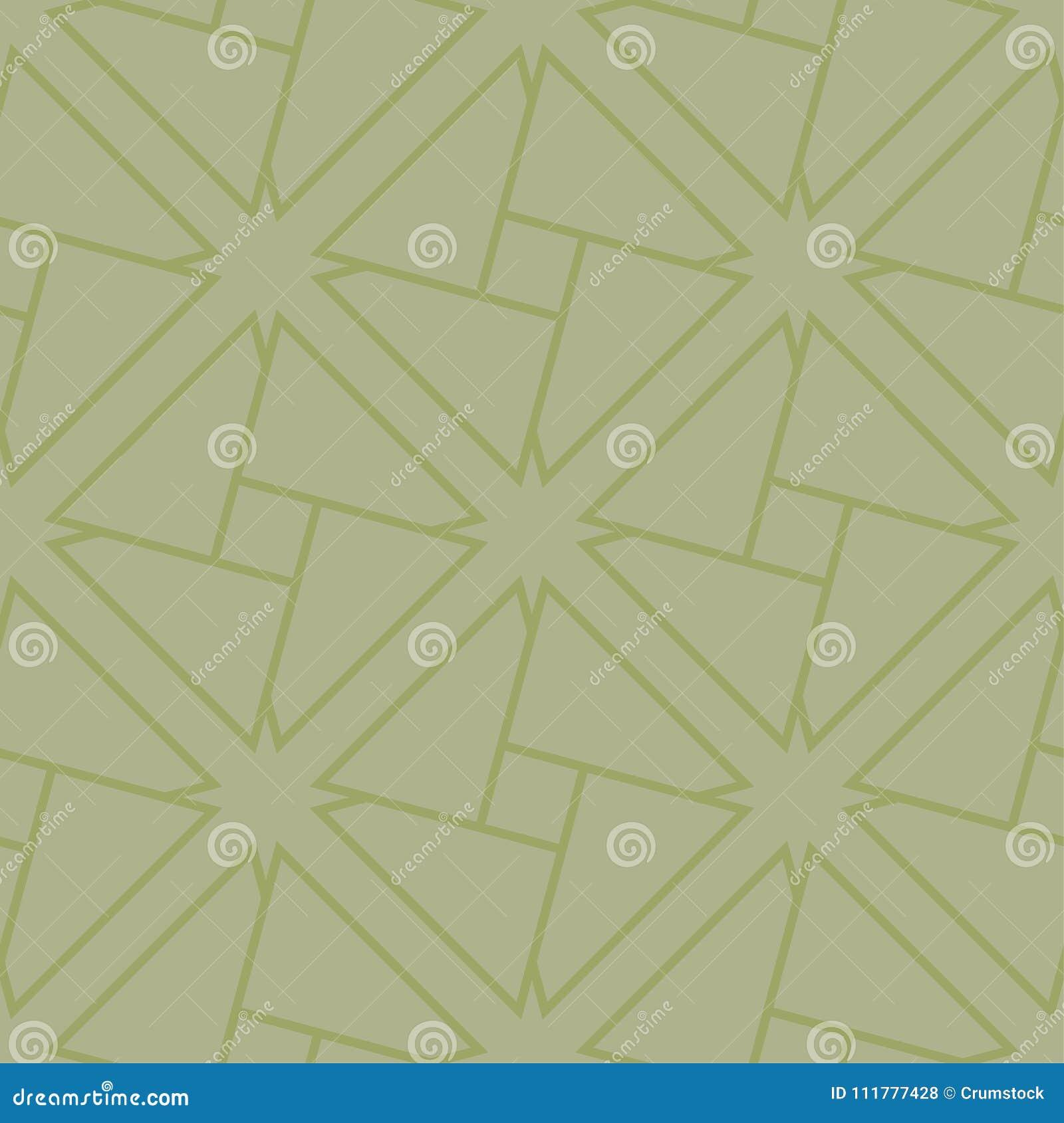 几何装饰品 橄榄绿无缝的样式