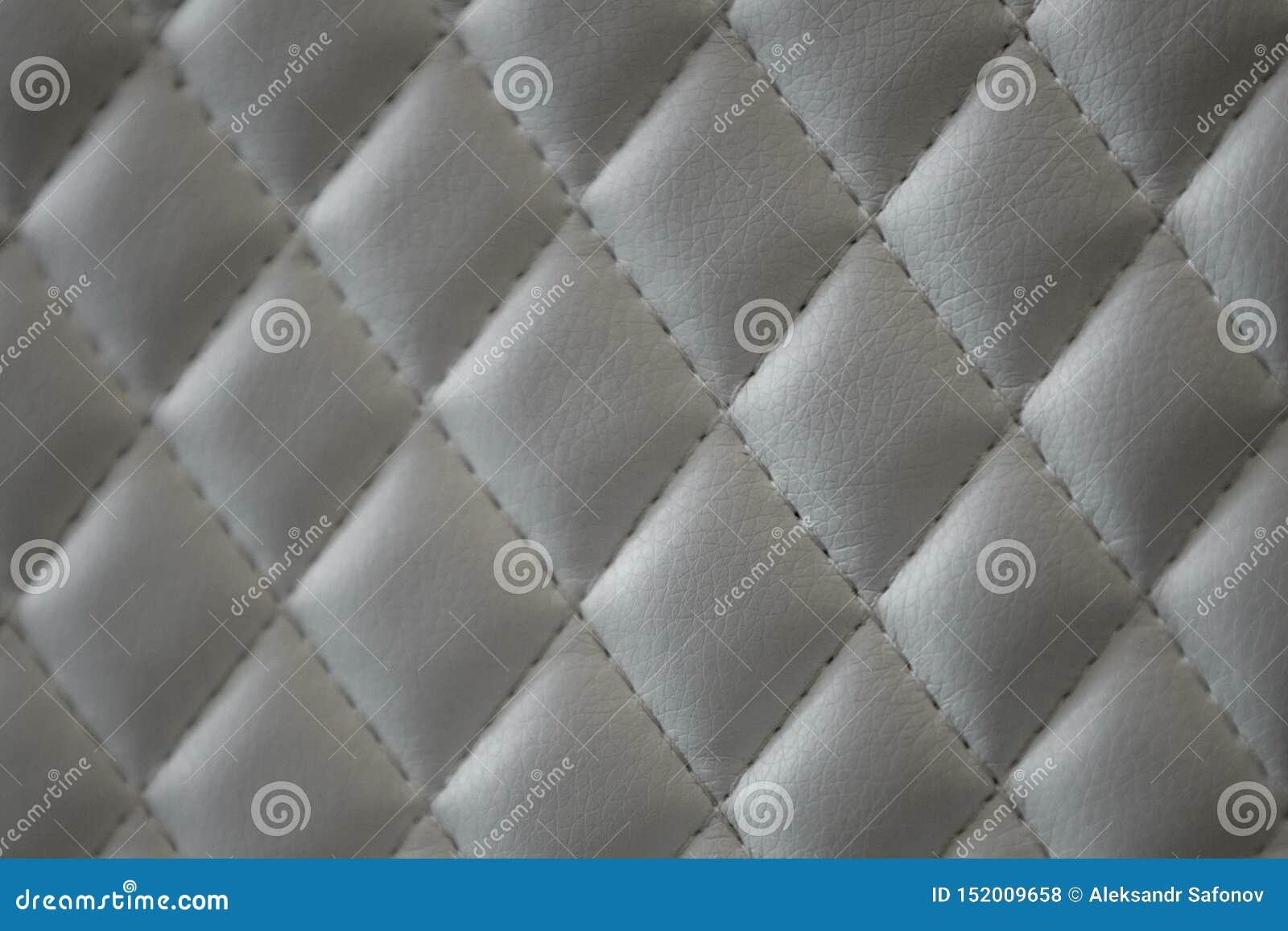 几何金刚石样式缝制了PU皮革