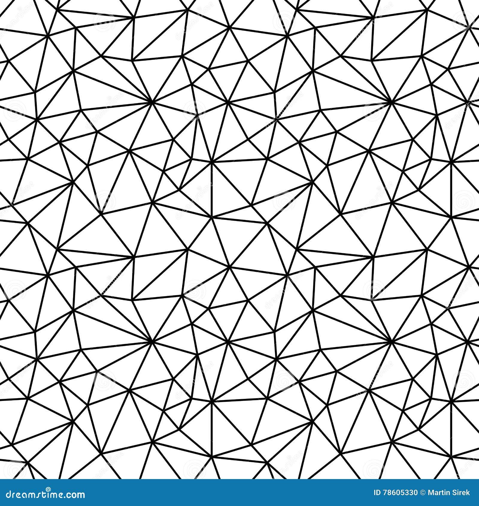 几何黑白行家时尚多角形背景样式