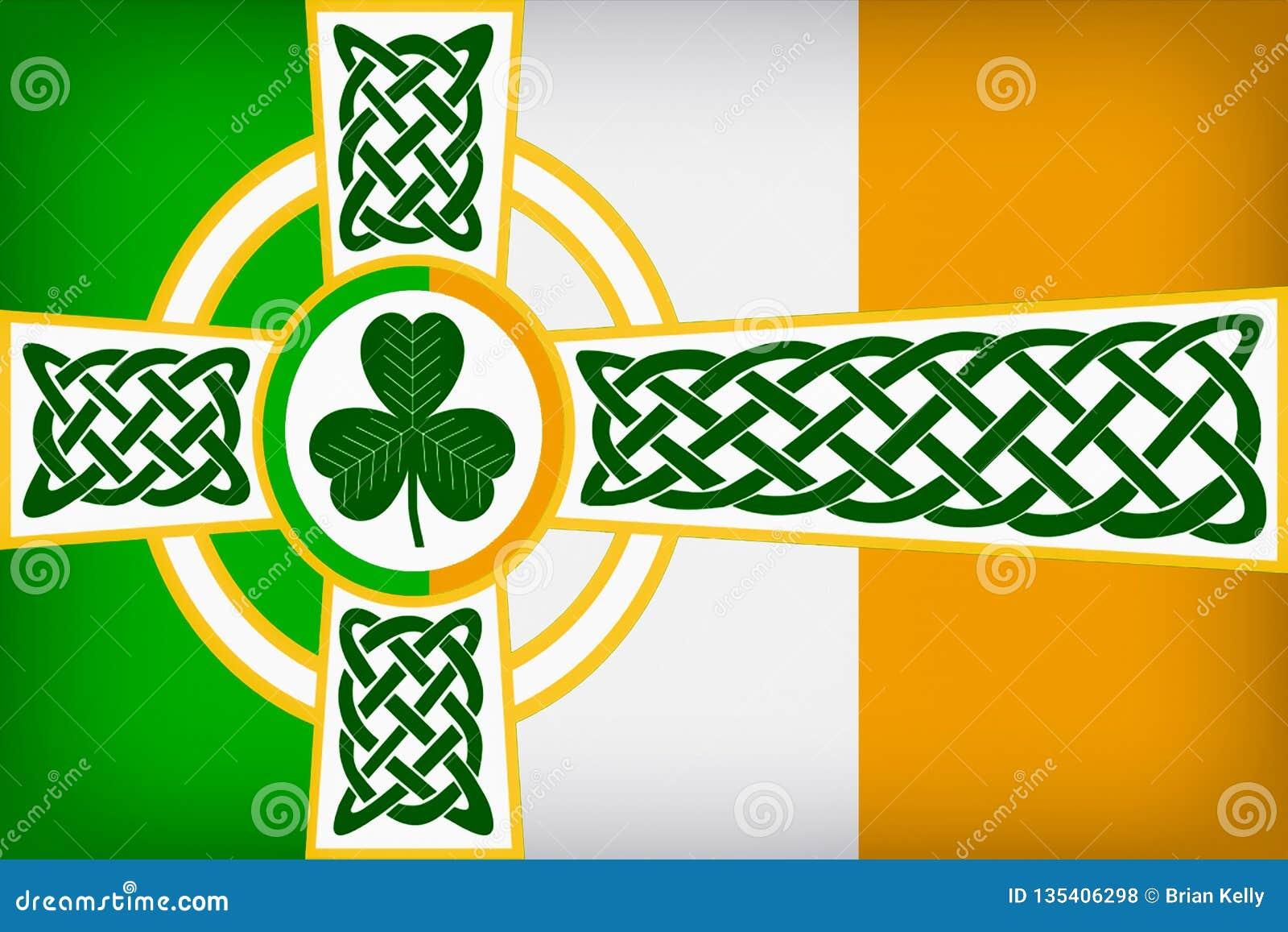 凯尔特爱尔兰旗子设计