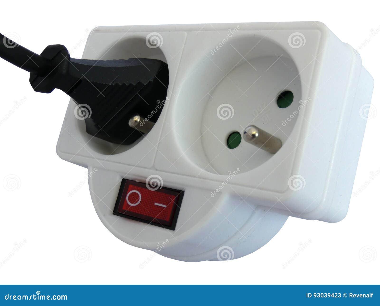 出口与被插入的插座的轻拍双
