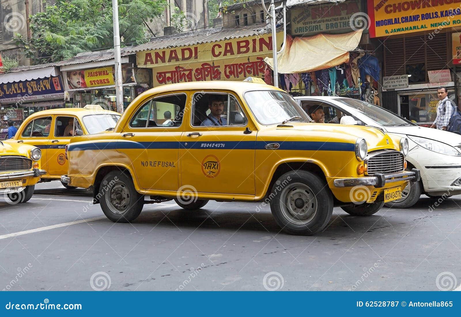 出租汽车在加尔各答,印度