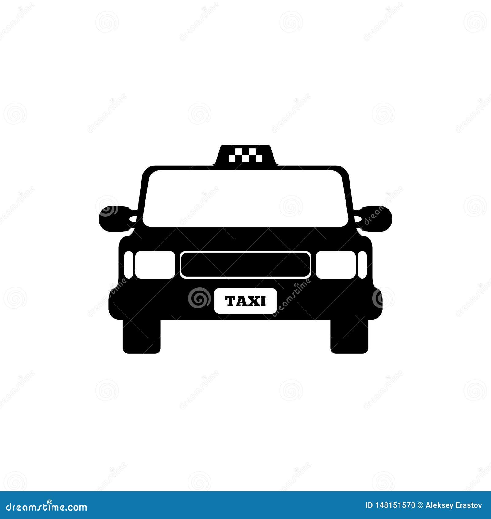 出租汽车汽车正面图 r r