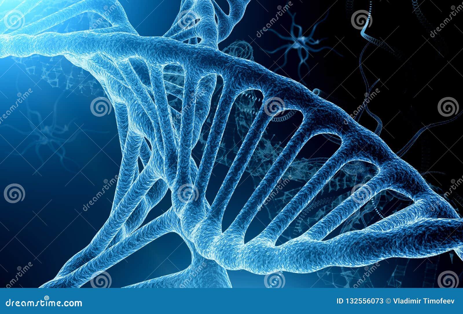 分子梦想系列 抽象设计由概念性原子、分子和分数维元素做成在生物,化学主题