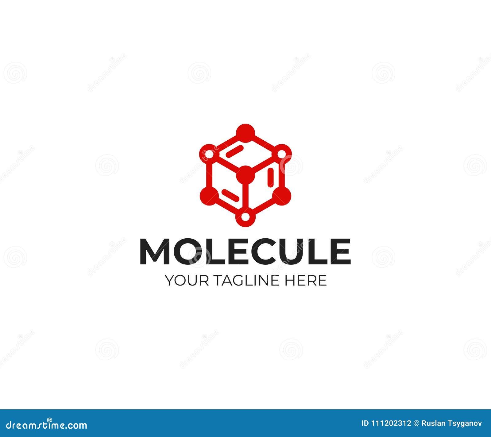 分子结构商标模板 化学结构传染媒介设计