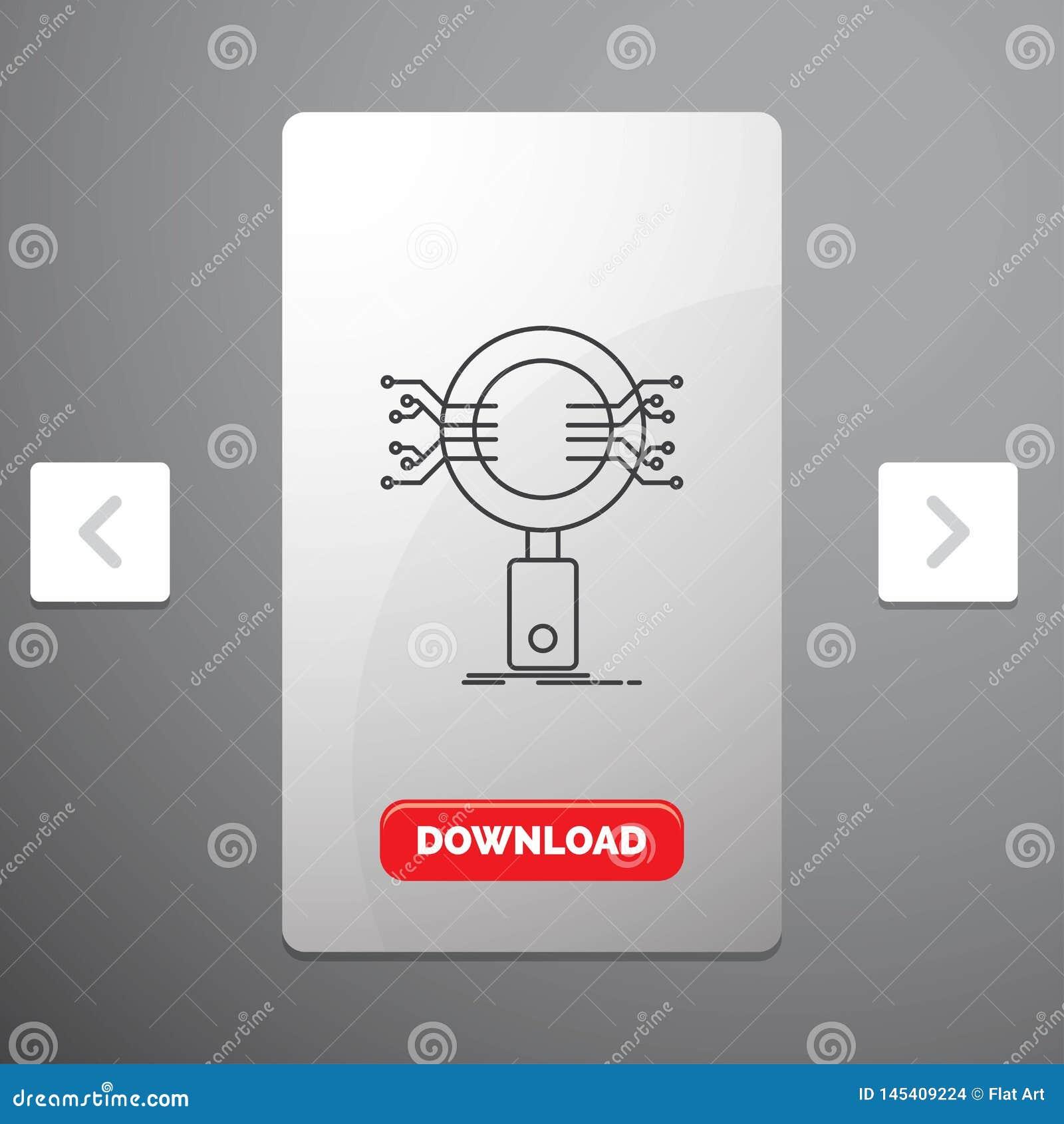 分析、查寻、信息、研究、安全线象在喧闹的酒宴页码滑子设计&红色下载按钮