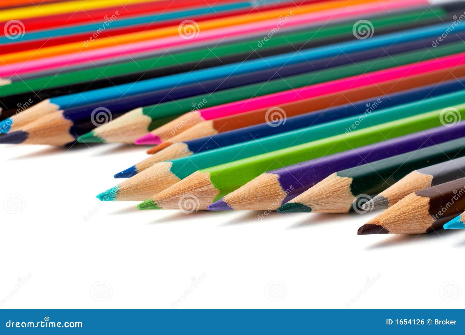 分类色的铅笔
