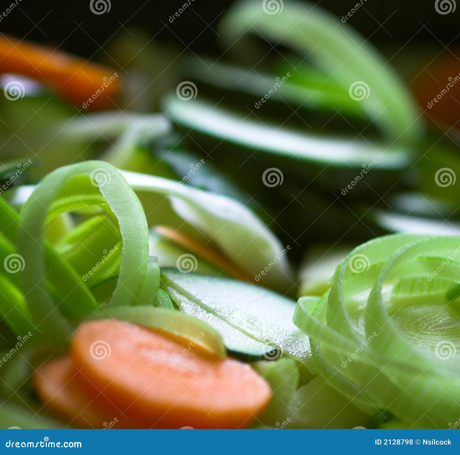 切好的新鲜蔬菜