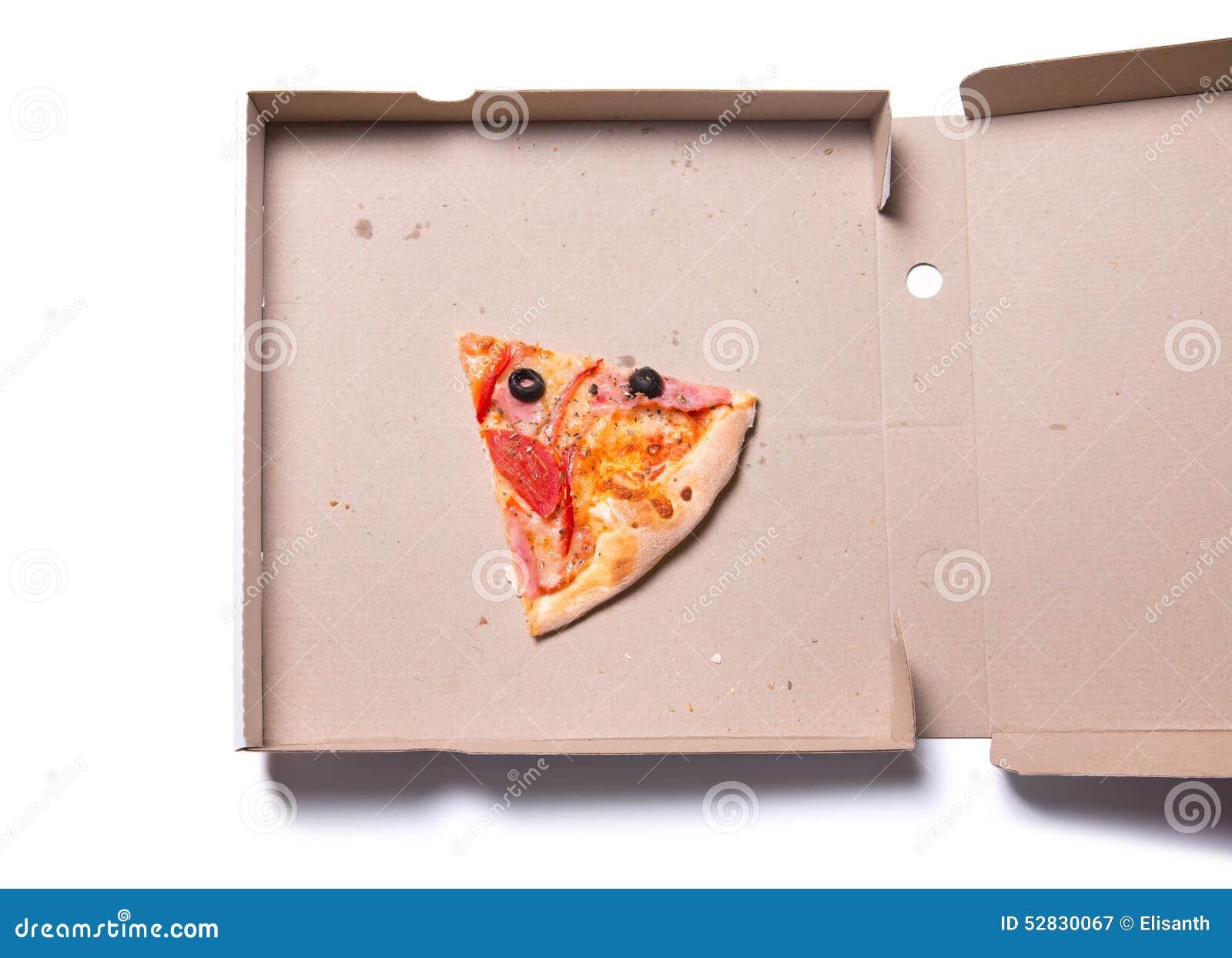 切片鲜美薄饼用火腿和蕃茄在箱子