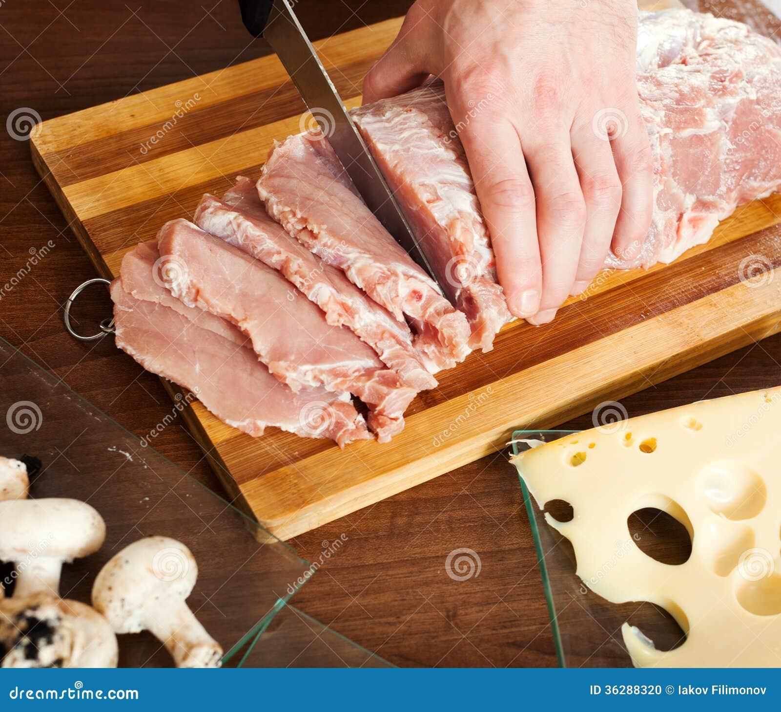 切了手的照片_切生肉的手 库存照片 - 图片: 36288320