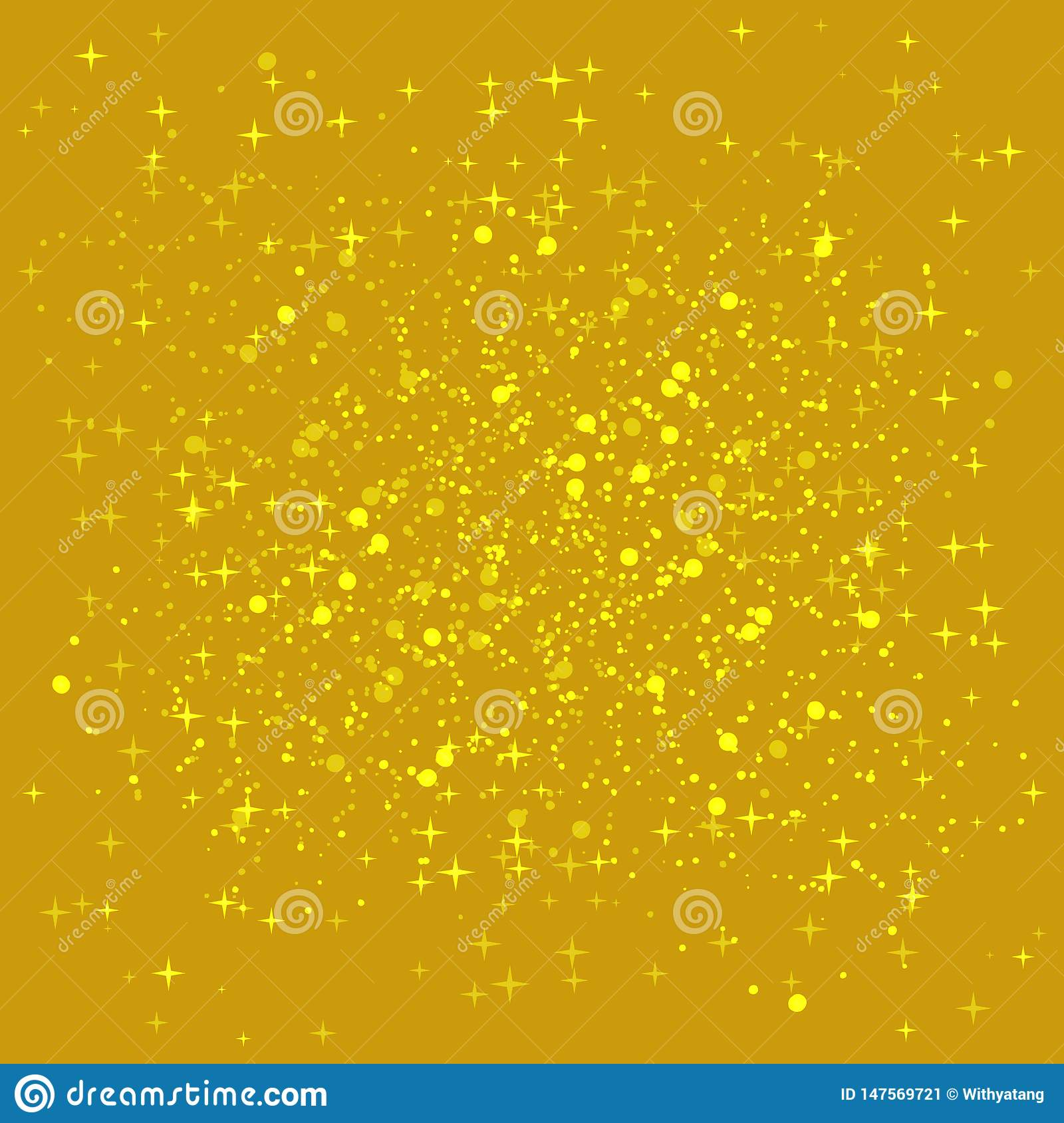 Golden shiny background.Gold sequins background. The golden sparkle on the border of the love shape.