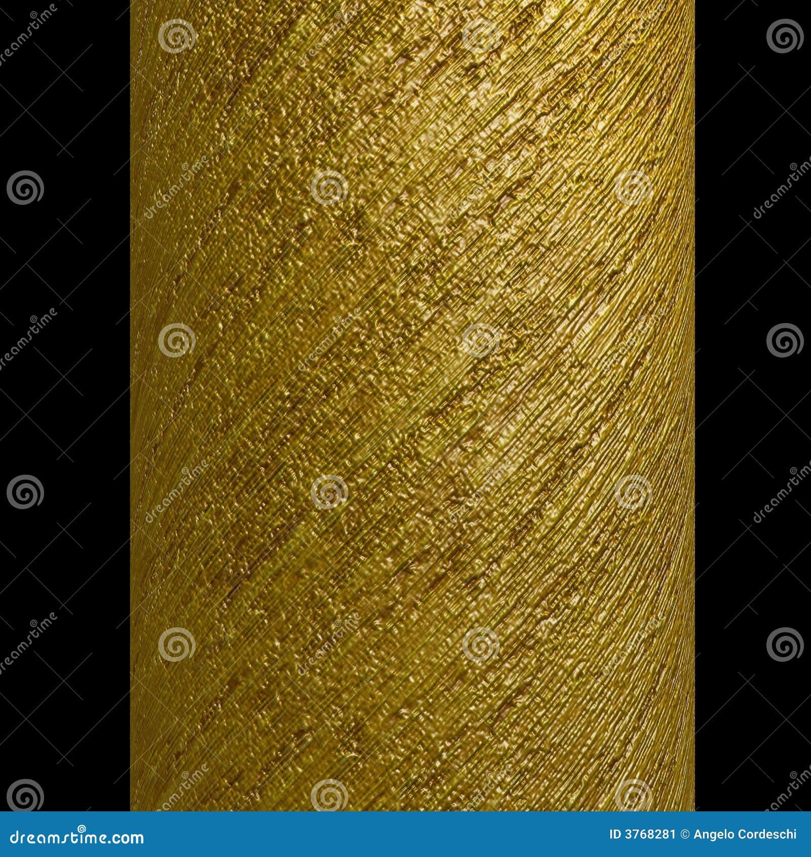 列金子金属螺旋剥离纹理