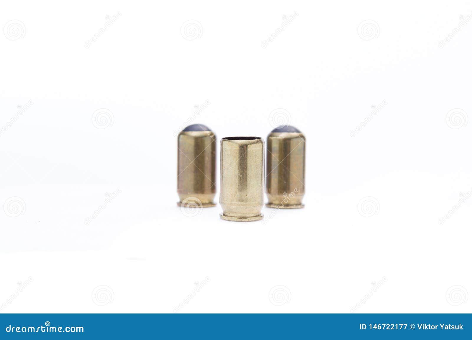创伤武器的弹药 三枚子弹用橡皮子弹