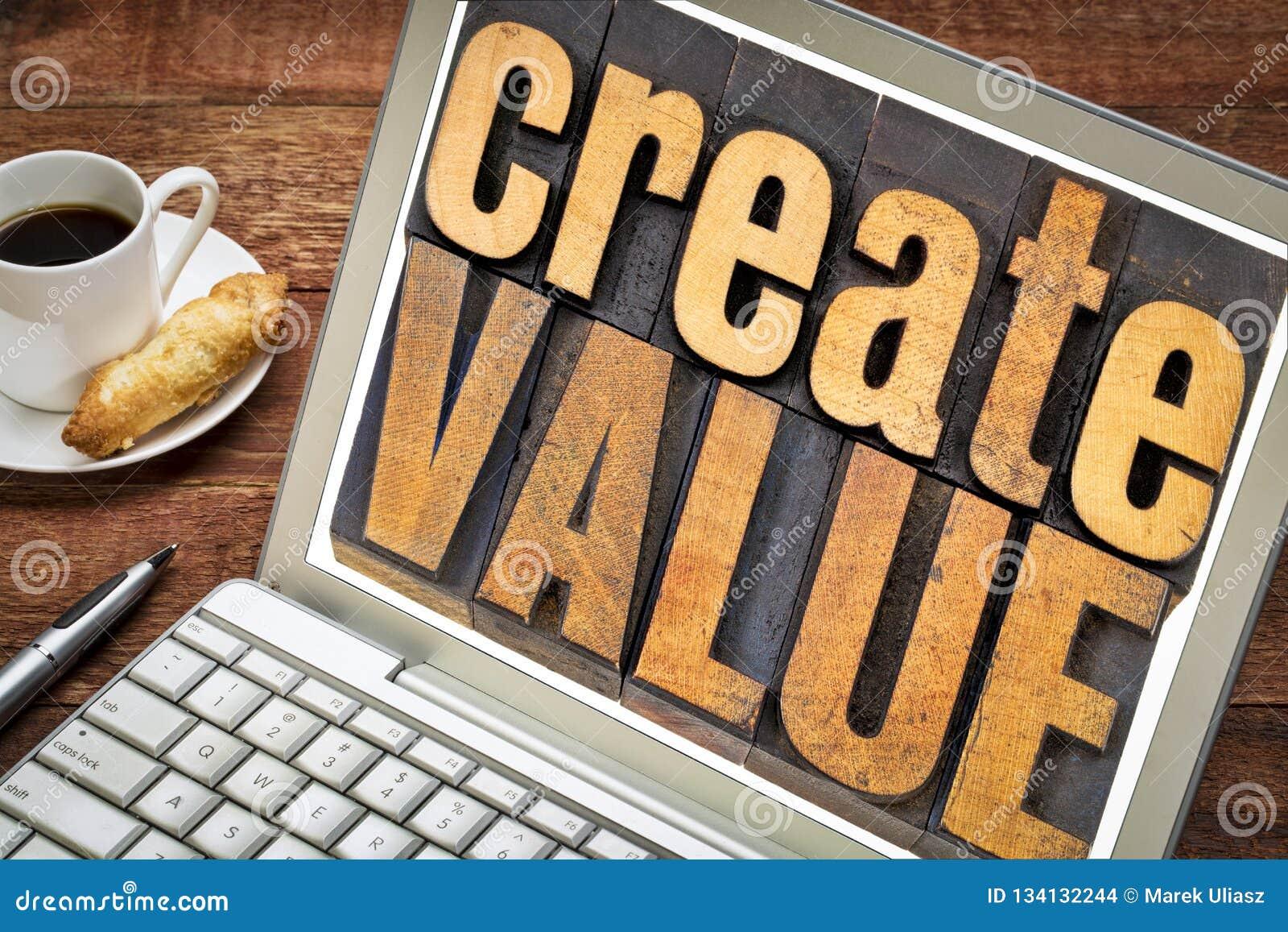 创造价值木头印刷术