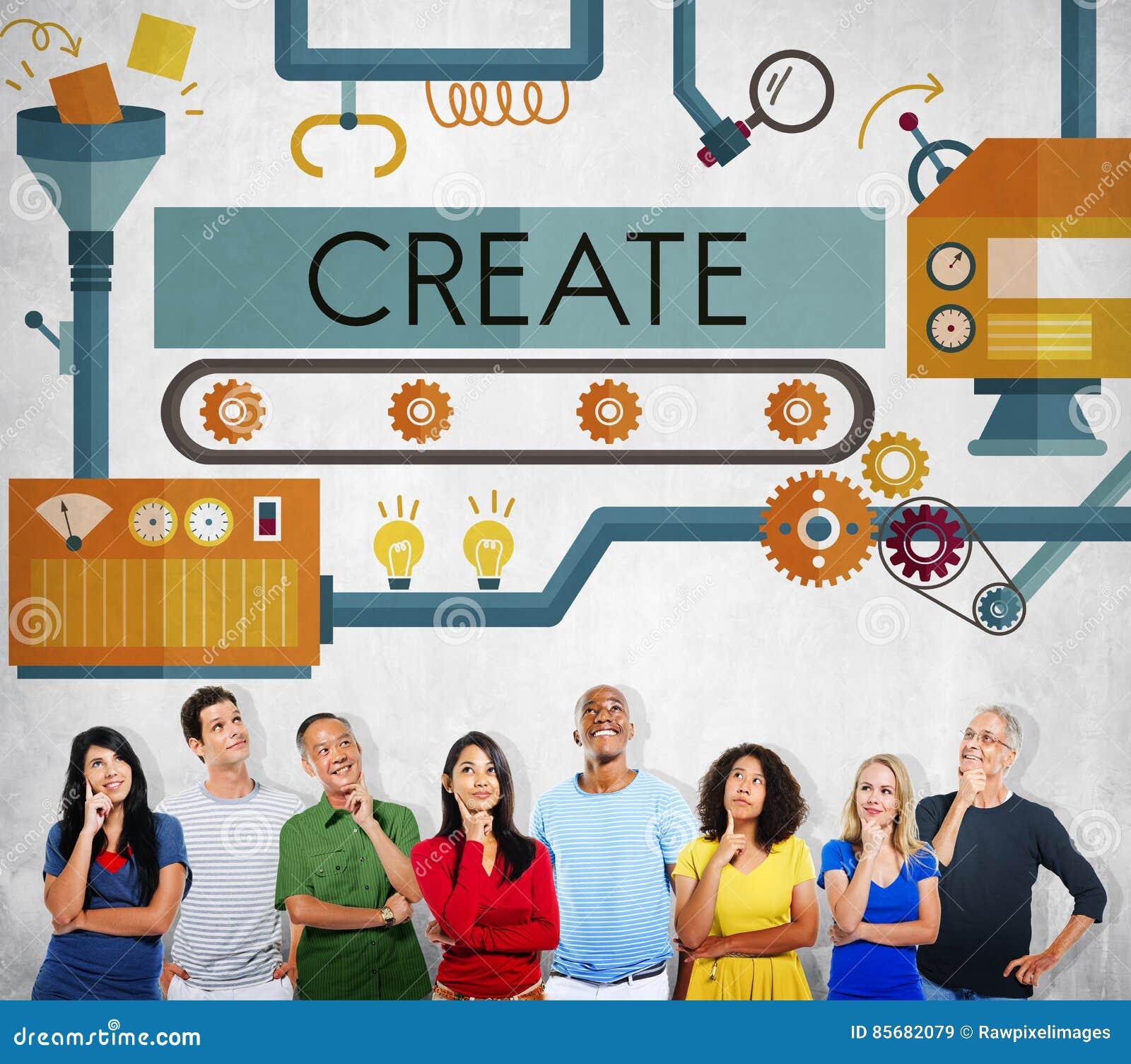 创造创新想象力发展想法概念