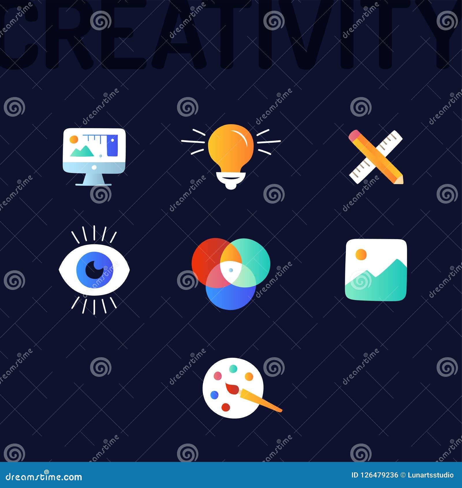 创造性图表和网络设计线象