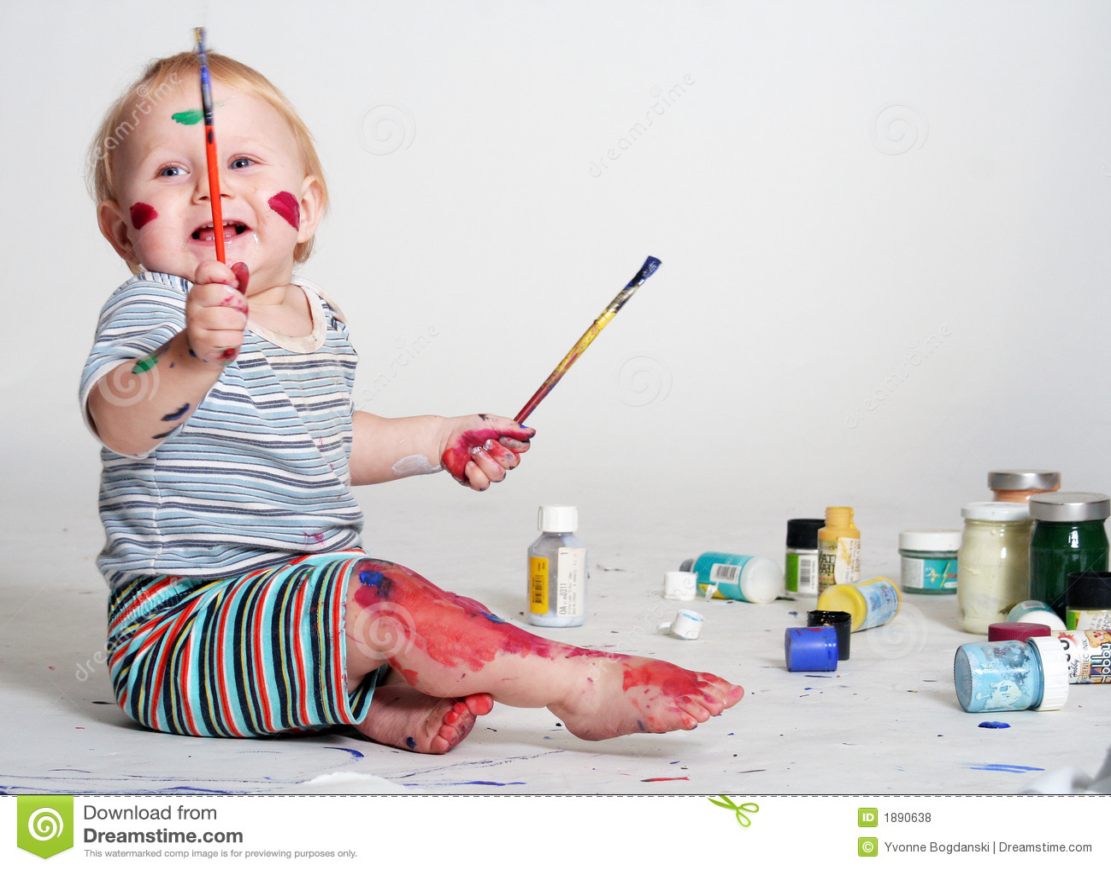 创造性的婴孩