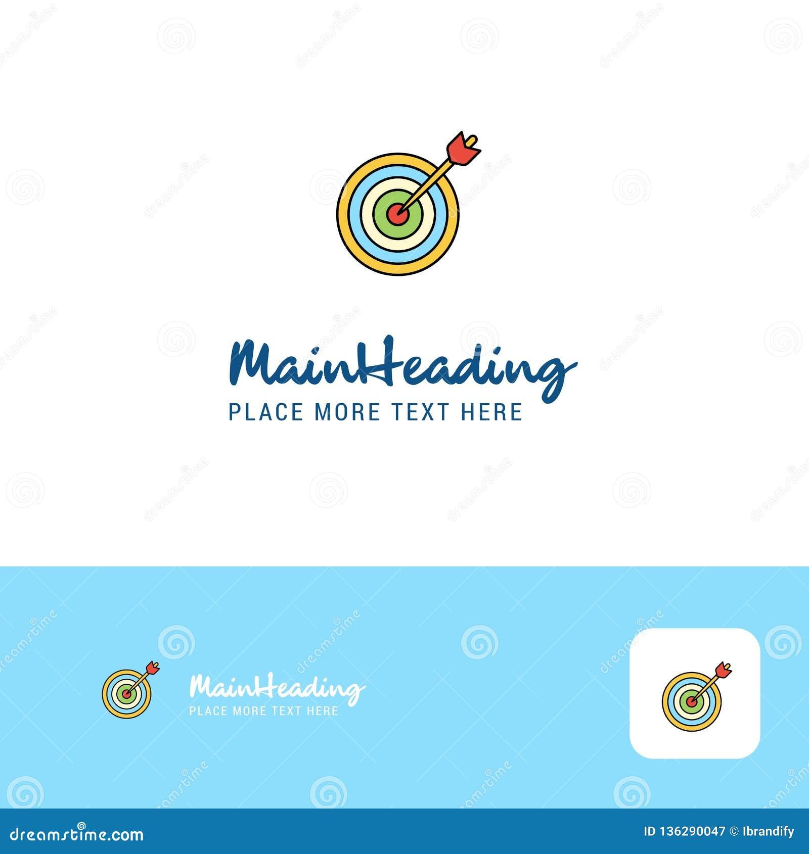 创造性的箭比赛商标设计 口号的平的颜色商标地方 也corel凹道例证向量