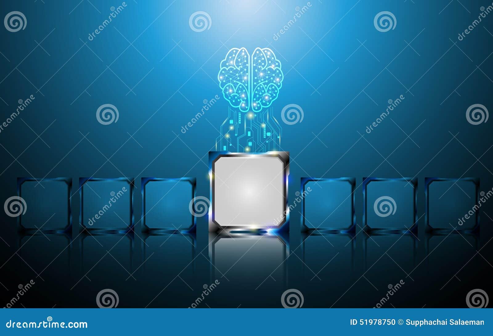 创造性的脑子和微集成电路数字式概念提取背景