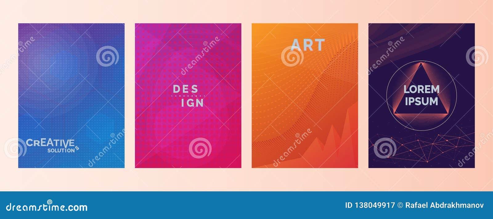 创造性的解答设计艺术在抽象颜色梯度的Lorem Ipsum文本塑造背景 设置盖子,小册子,飞行物 冷静