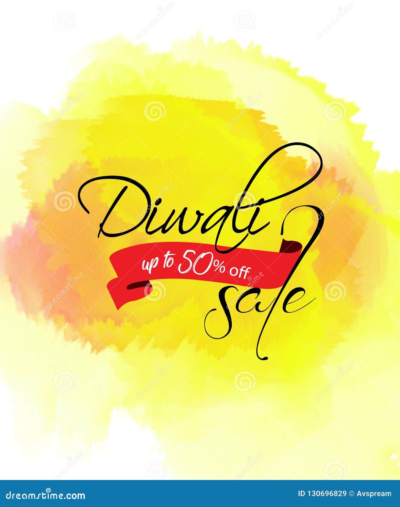 创造性的销售横幅或销售海报diwali庆祝背景节日的