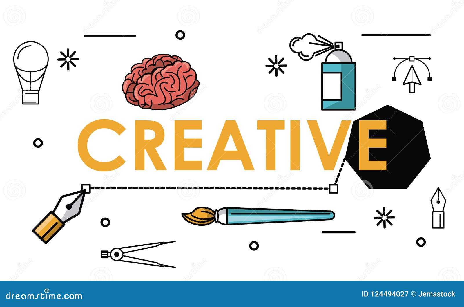 创造性的颜色和想法