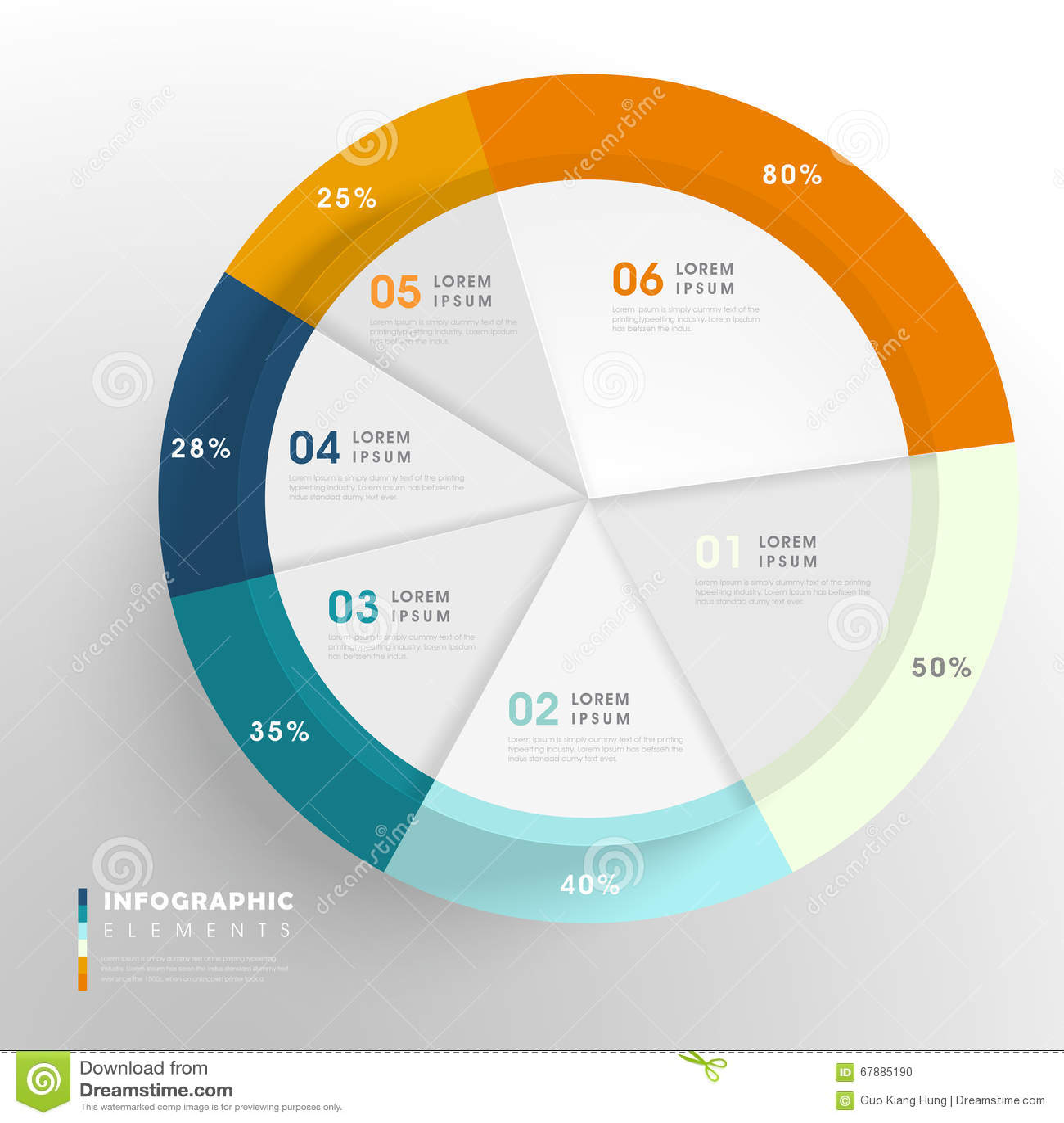 创造性的Infographic模板