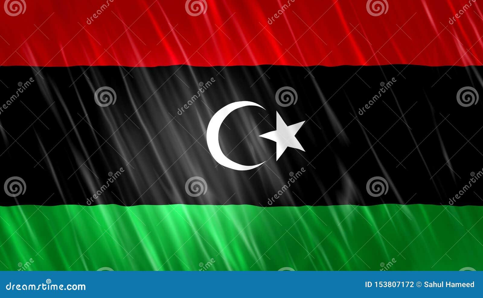利比亚旗子