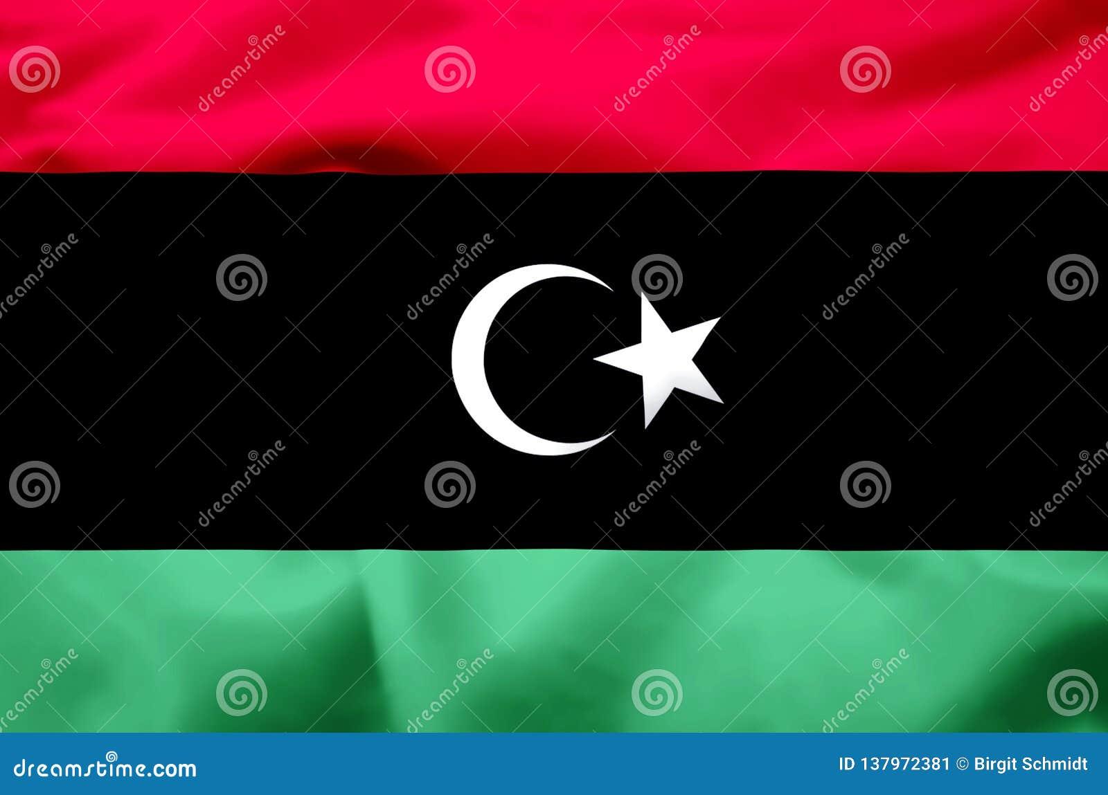 利比亚现实旗子例证