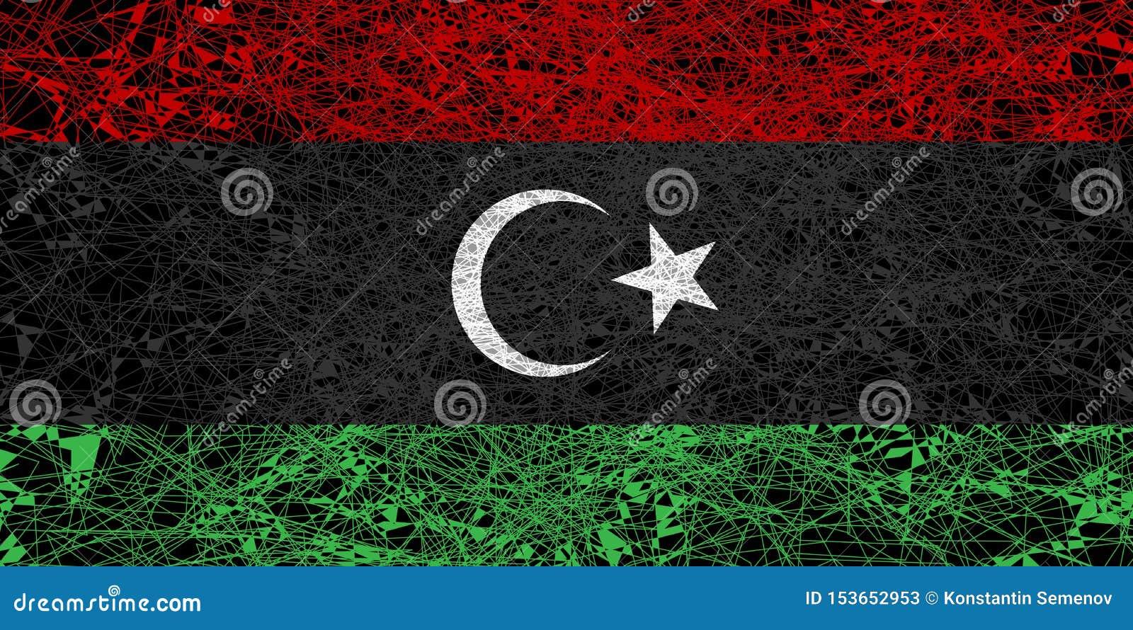 利比亚的旗子
