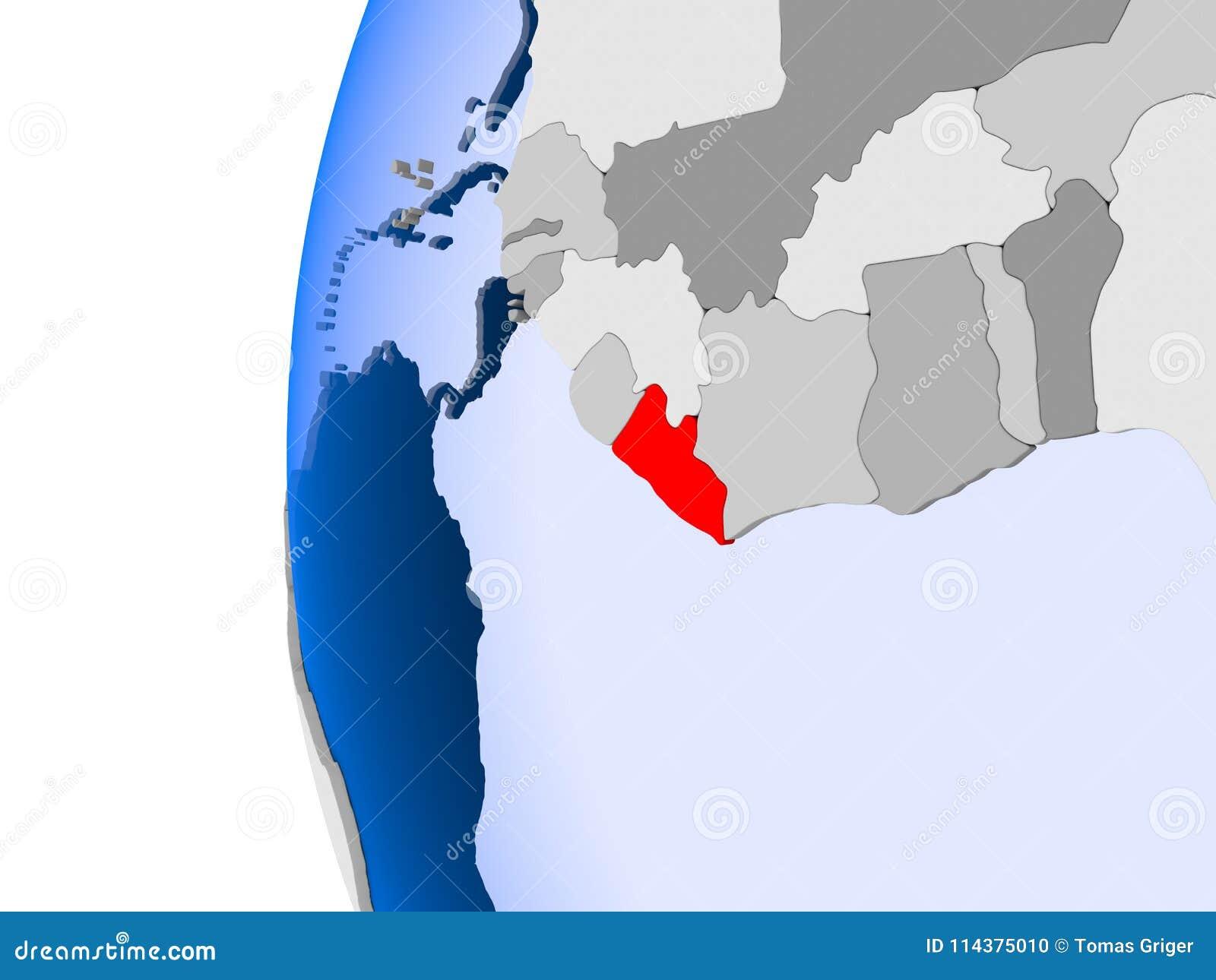 利比里亚的地图政治地球的