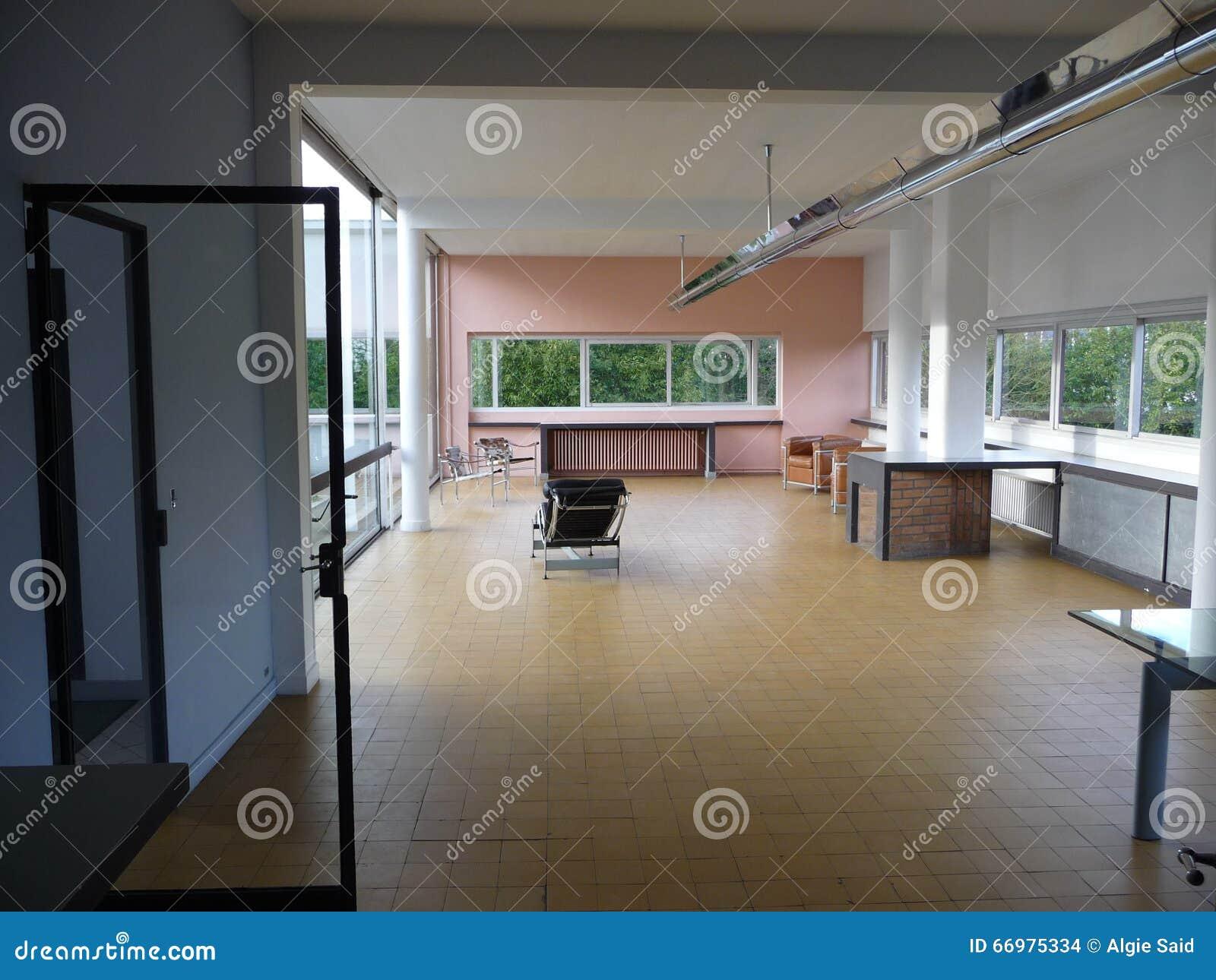 巴黎-别墅Savoye (入口的客厅)