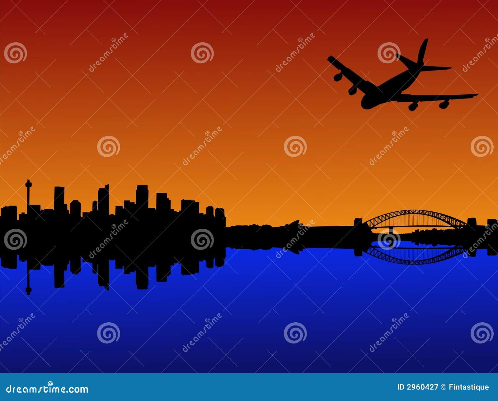 到达的平面悉尼