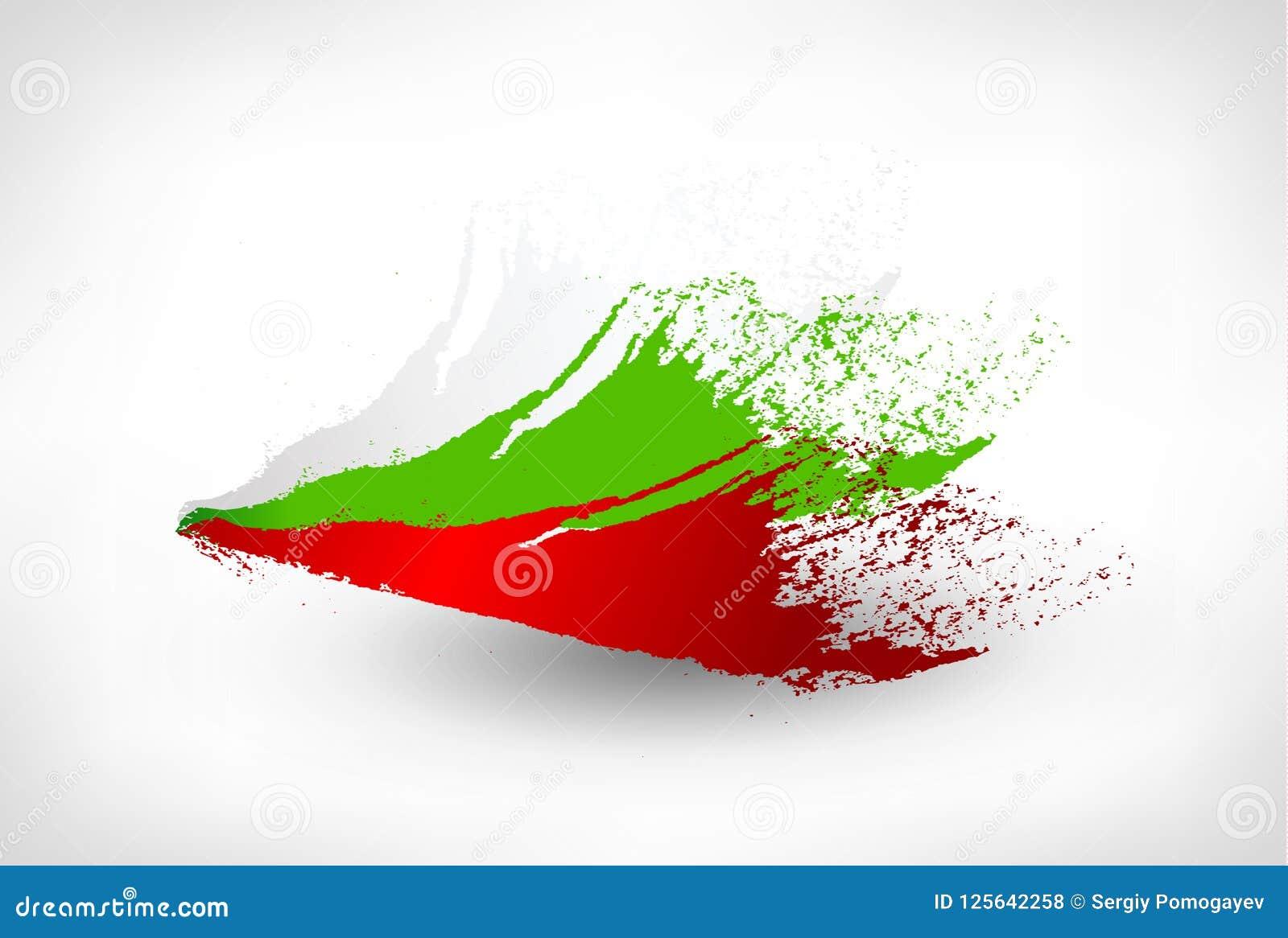 刷子保加利亚的被绘的旗子