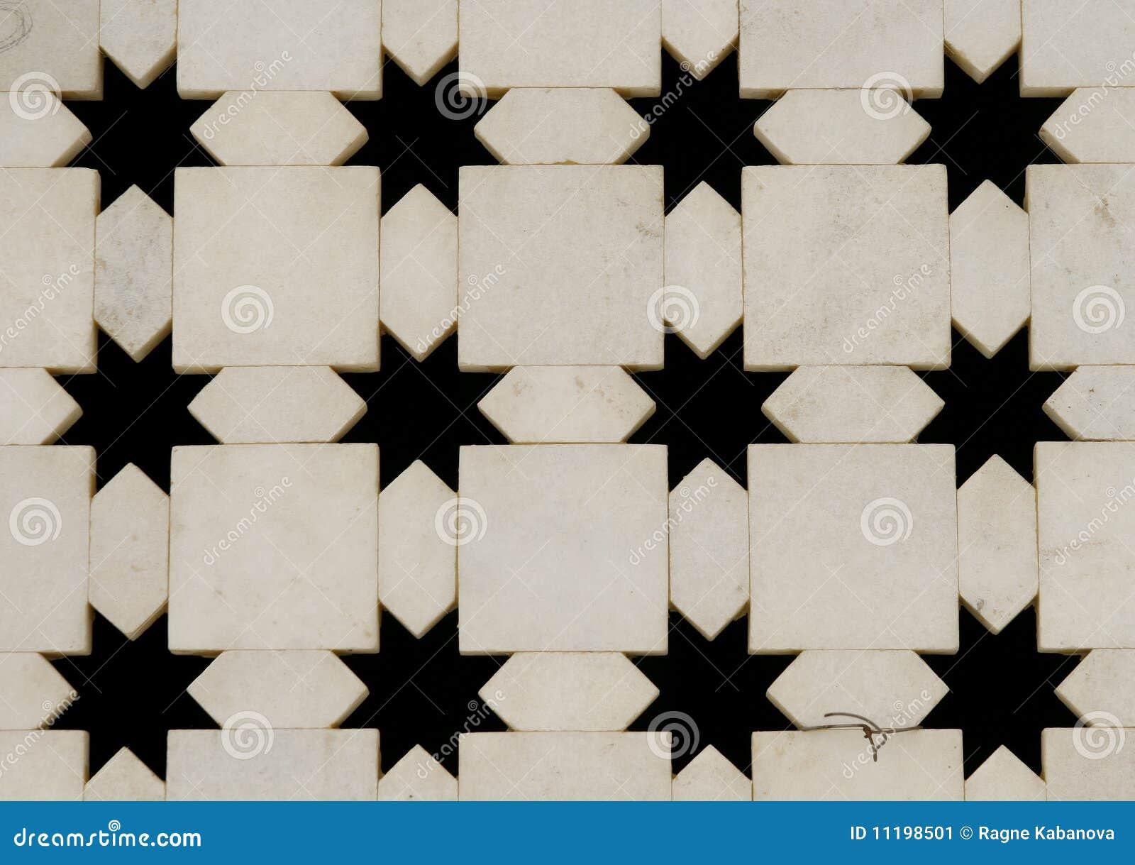 削减印度大理石缩小形状星形墙壁白&#