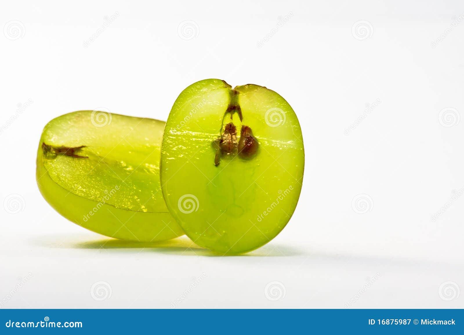 削减葡萄绿色