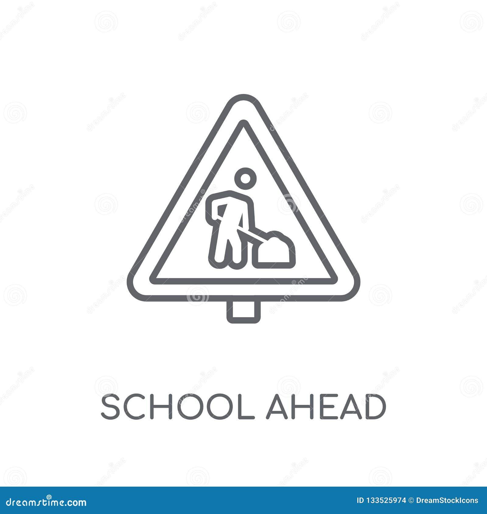前面学校标志线性象 前面现代概述学校标志
