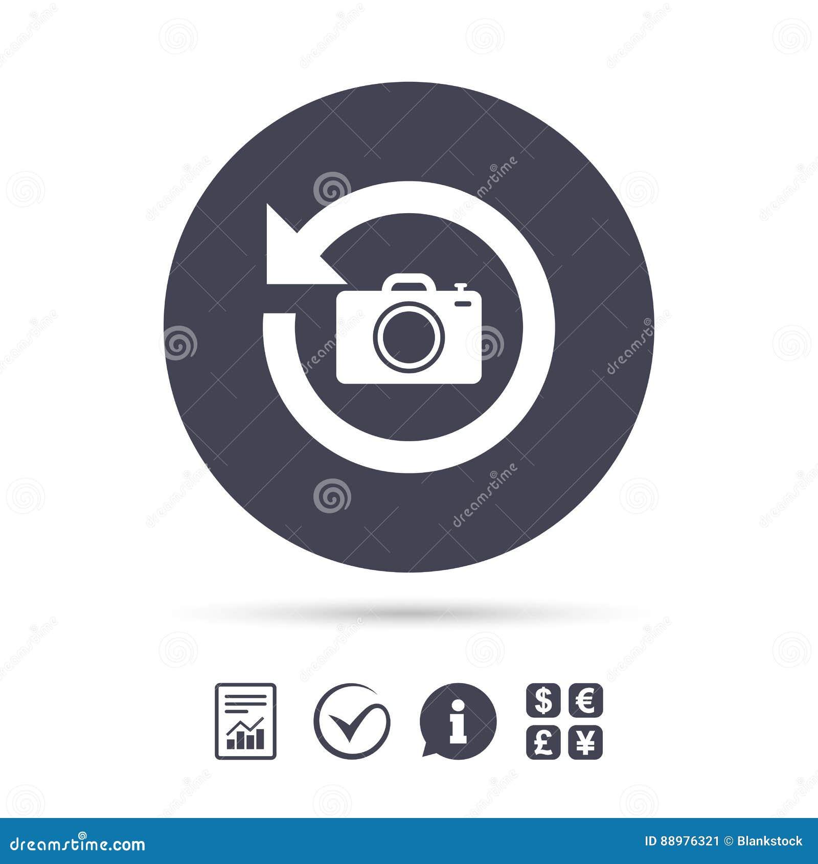前面照片照相机标志象 更改符号