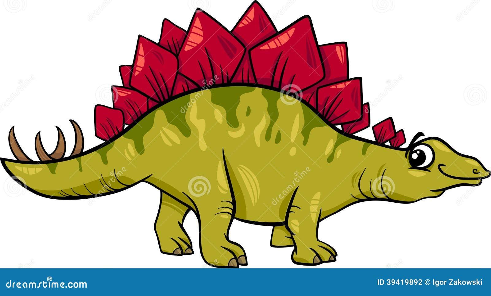 剑龙恐龙动画片例证