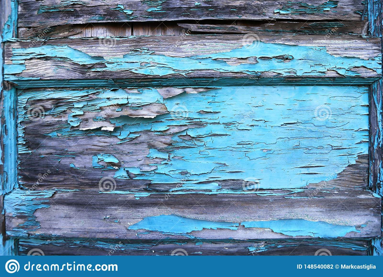 剥在老木门的蓝色油漆 r