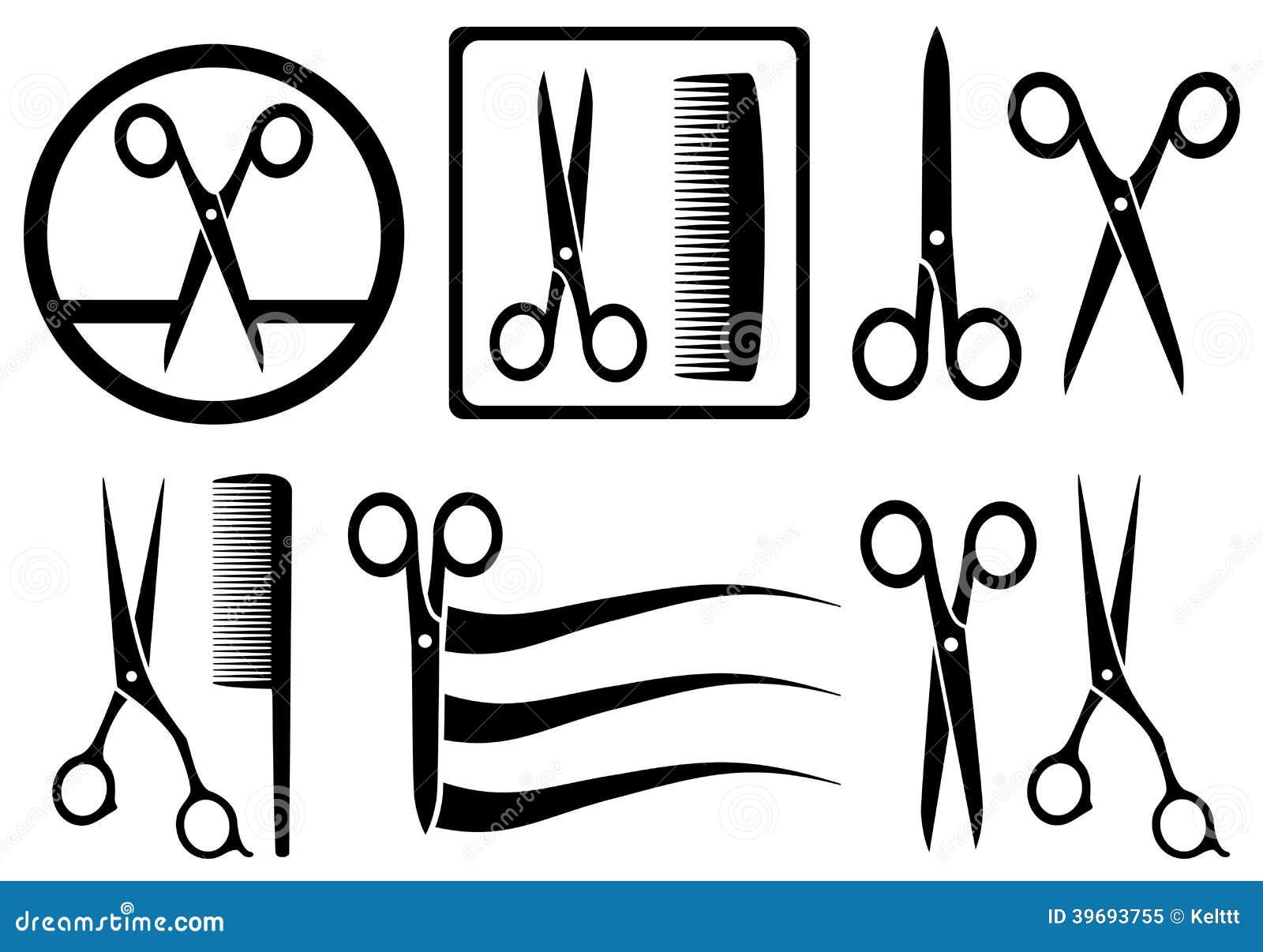 剪与梳子的象发廊的图片