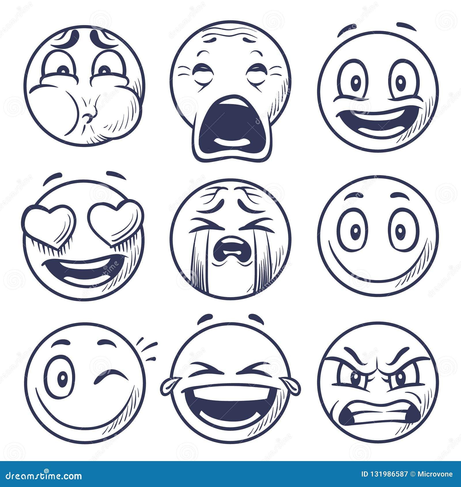剪影面带笑容 微笑表示象,意思号面对 手凹道传染媒介心情字符