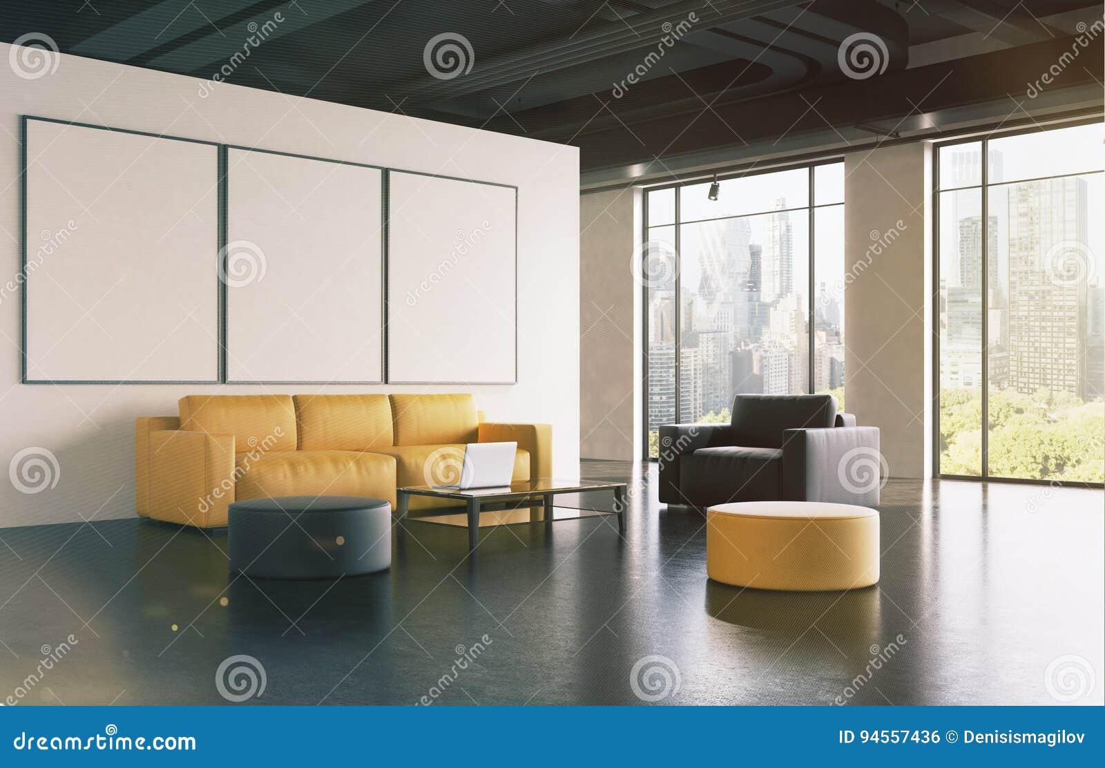 办公室候诊室:沙发,画廊,支持定调子