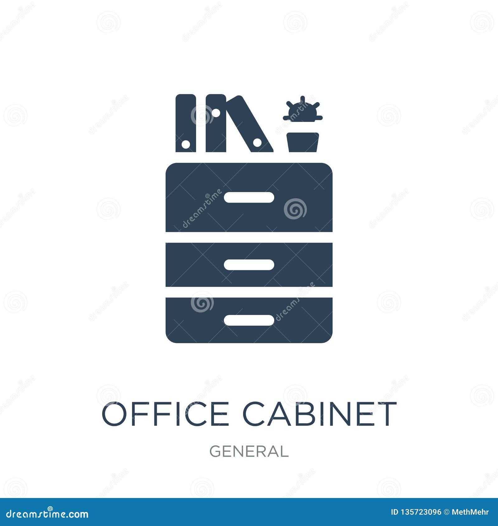 办公室在时髦设计样式的内阁象 办公室在白色背景隔绝的内阁象 办公室内阁简单传染媒介的象